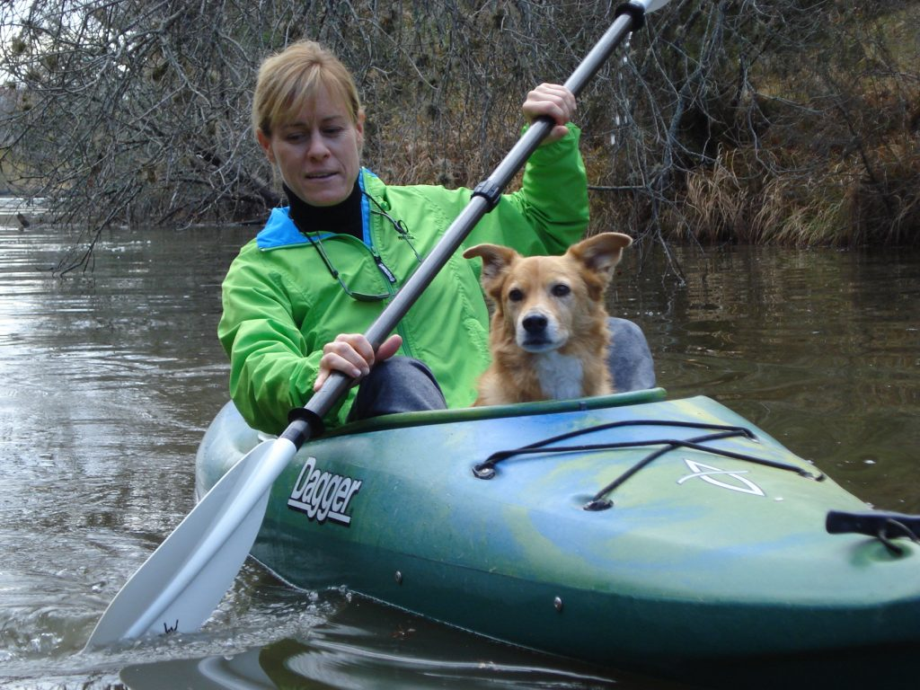 Lisa Kayaking with Rio