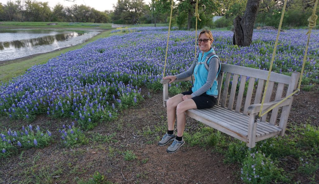 Bluebonnets at Granite Lake